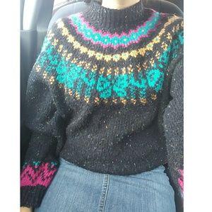 Vintage knit black turtleneck sweat